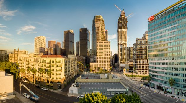 How to straighten bent buildings in aerial panoramas