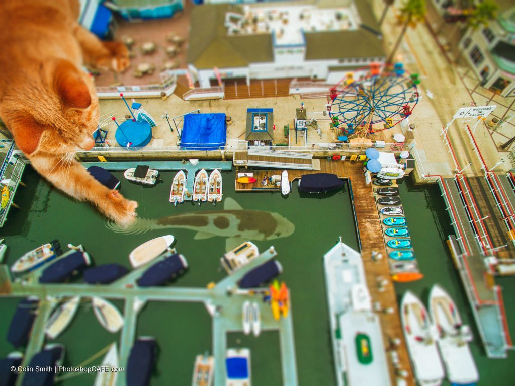 Make a miniature model effect, with drone photos and