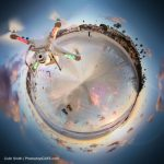 How to make a tiny planet effect in Photoshop from a drone