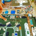 Make a miniature model effect, with drone photos and Photoshop tilt shift effect